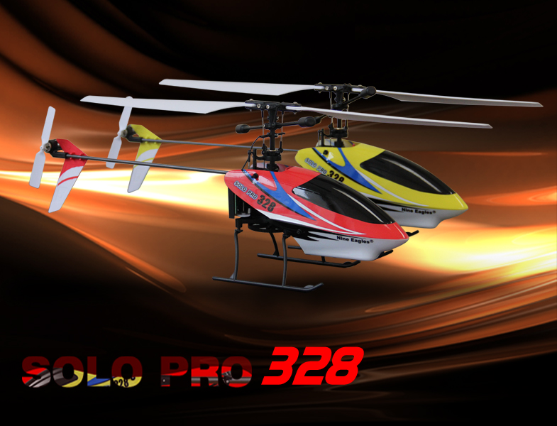 SOLO PRO 328A Yellow (2.4G 4ch Helicopter)