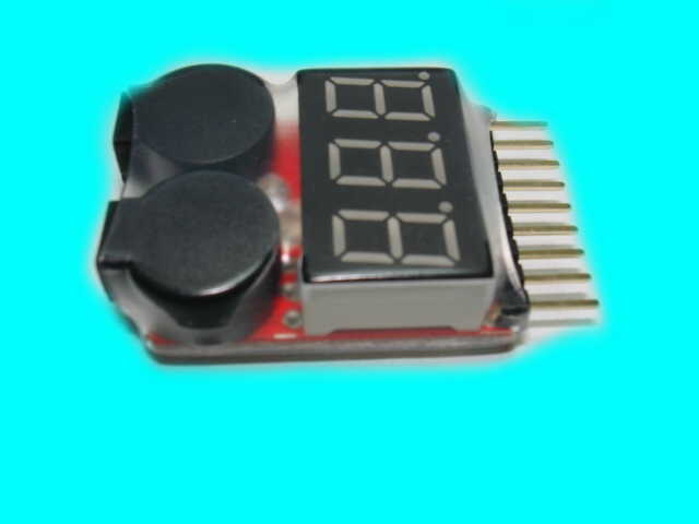 Lipo Battery Voltage Tester Low Voltage Buzzer Alarm 1~8S